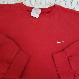 Vintage 90s Nike Embroidered Swoosh Crewneck Red